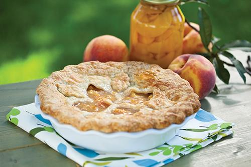 Basil Peach Pie