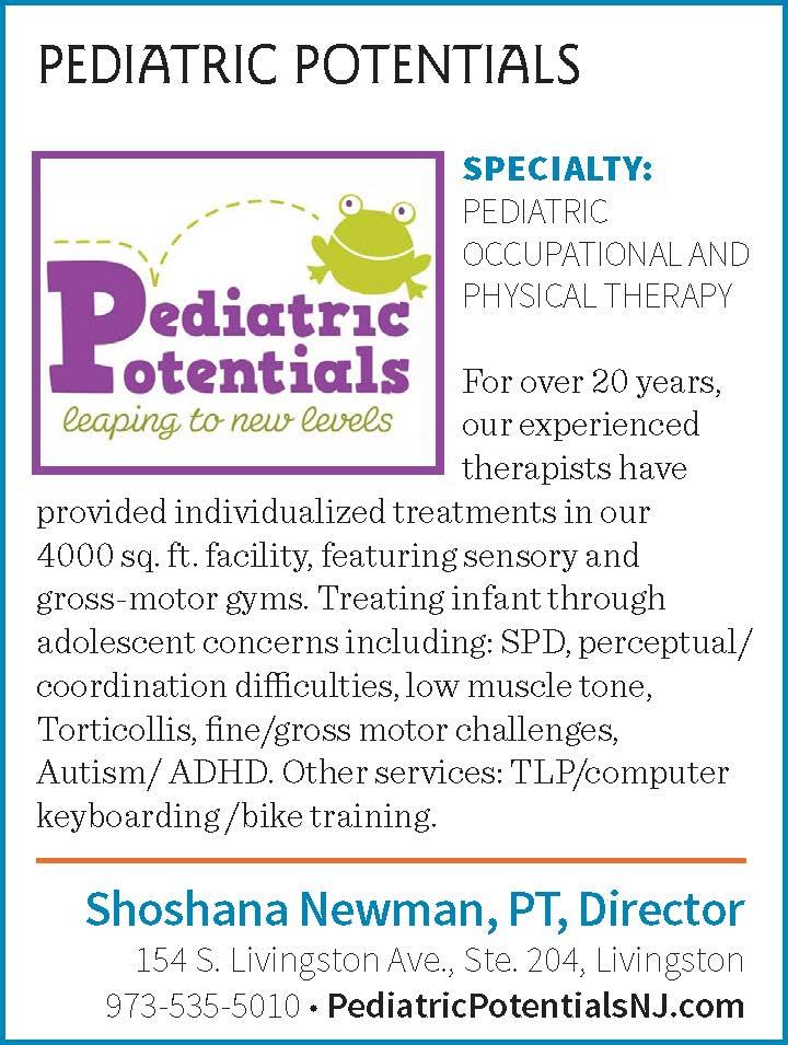 Shoshan Newman, PT Director of Pediatric Potentials