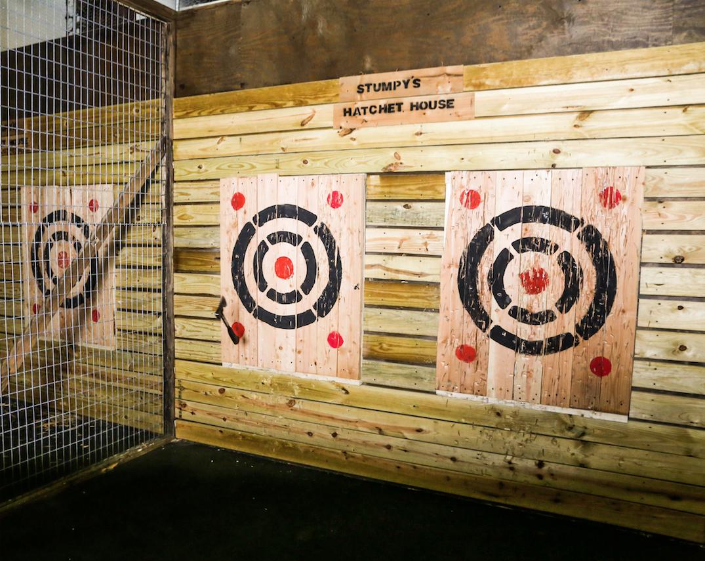 Targets at Stumpy's Hatchet House