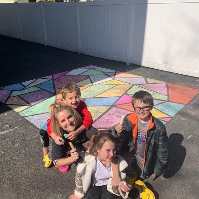 Meaghan Murphy chalk art
