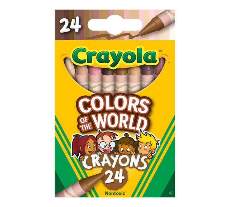 diverse skin tone crayons