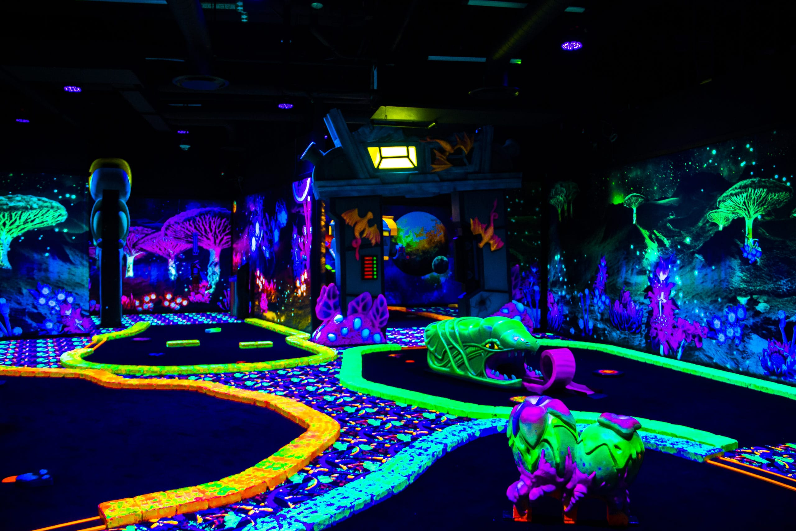 American Dream blacklight mini golf