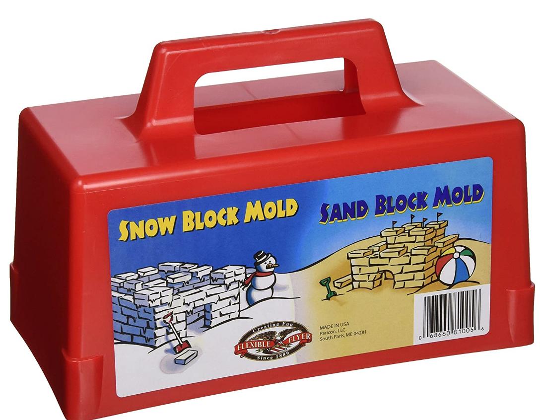 Snow block fort mold