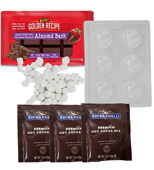 DIY Hot Chocolate Cocoa Bombs with Marshmallows Kit