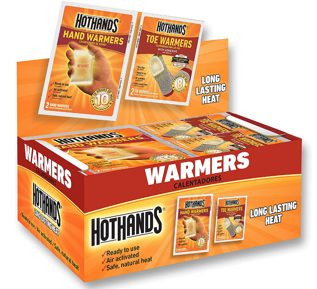 HotHands Hand & Toe Warmers - Long Lasting Safe Natural Odorless Air Activated Warmers